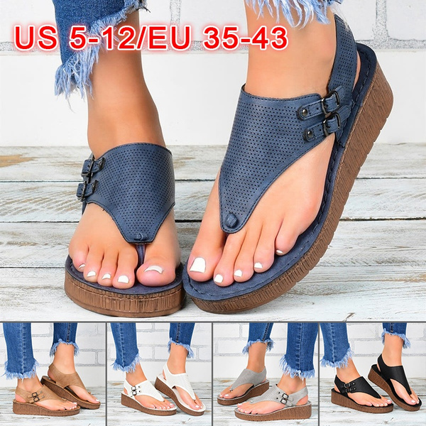 Wedge Sandals, Summer, Flip Flops, Plus Size