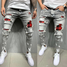 men jeans, Plus Size, skinny pants, pants