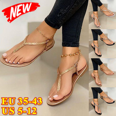 Summer, Flip Flops, Plus Size, blacksandalsslipper