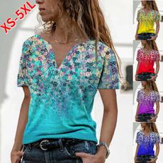 blouse, Summer, Plus Size, button