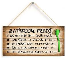 homeaccessory, Funny, Bathroom, toiletplaque