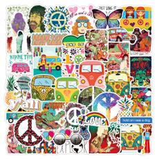 Car Sticker, suitcasesticker, hippie, Waterproof