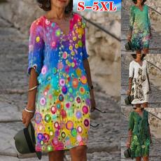 Summer, dressesforwomen, short dress, Sleeve