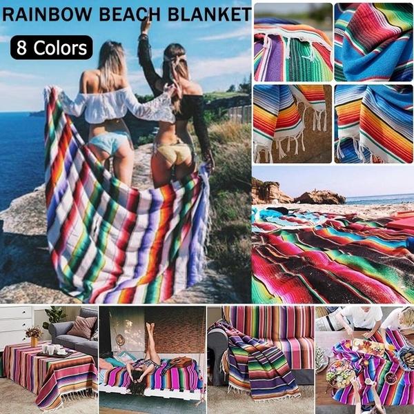 rainbow, Picnic, beachmat, Blanket
