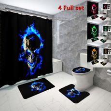 Bathroom Accessories, Skeleton, Waterproof, Halloween
