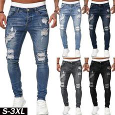 Blues, men jeans, trousers, pencil