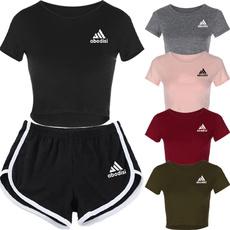 Summer, Shorts, Running, Sleeve