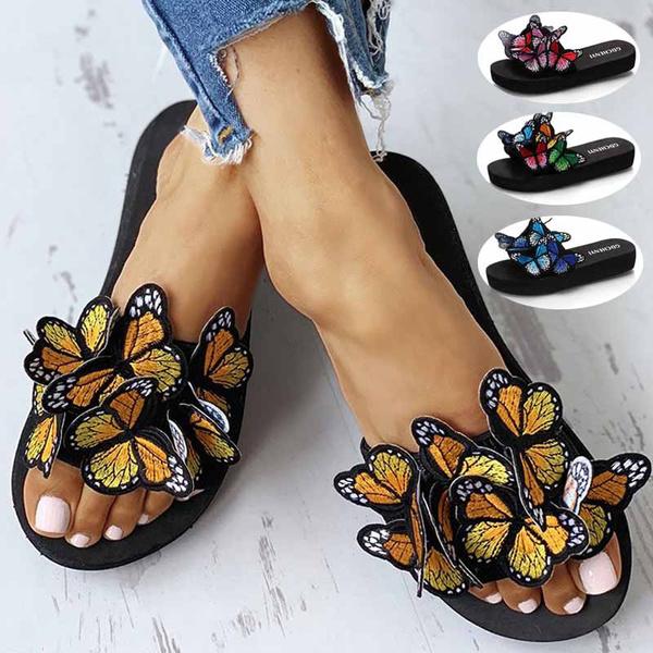 butterfly, Flats, Flip Flops, butterflysandal