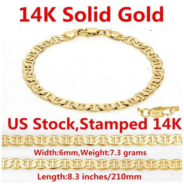 yellow gold, Chain, chianbracelet, Bracelet