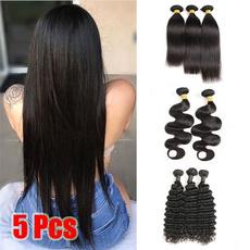 Black wig, hair, Fiber, Hair Extensions
