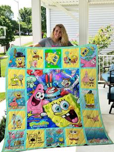 Polyester, Sponge Bob, customlabel0thofleeceblanket2, Blanket