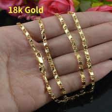 Fashion, gold, 18kgoldnecklace, rosenecklace