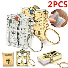 Mini, keyholder, bible, Key Chain