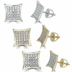 Real, goldplated, Square, Jewelry