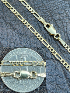Sterling, Chain Necklace, gold, Chain