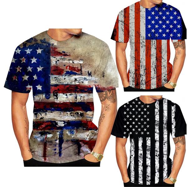 Summer, Fashion, Men, USA flag