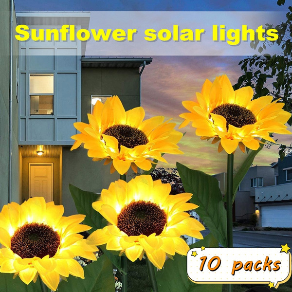 gardenlightstring, courtyarddecoration, Garden, Sunflowers