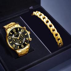 Chronograph, Moda masculina, gold, Classics