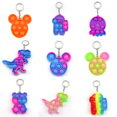 Mini, pushpopbubbletoy, Toy, Key Chain