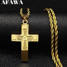 Steel, Chain Necklace, Men, goldchainnecklace
