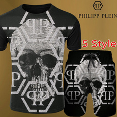 Summer, Two-Piece Suits, Shirt, skull