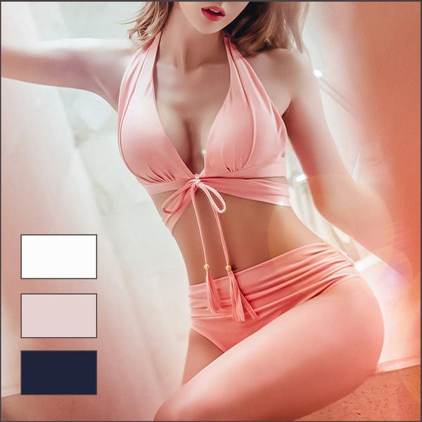 pink, bathing suit, Fashion, Waist