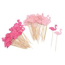 Baby, decoration, cakeflag, flamingo