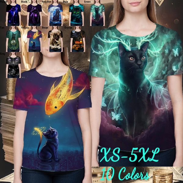 trending, 3dtshirtblackcat, Colorful, Cool T-Shirts