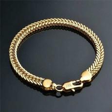 yellow gold, Sideways, 18k gold, Chain