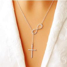Sterling, Chain, Cross Pendant, Simple