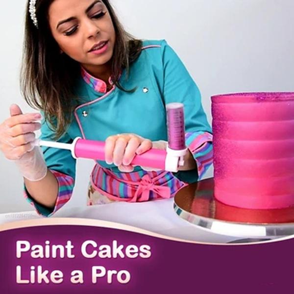 Baking, manualcakespraygun, Tool, diycaketool