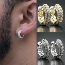 Mens Earrings, hip hop jewelry, punk earring, gold