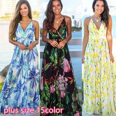 sleeveless, Fashion, Summer, long dress