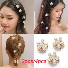 Mini, Flowers, pearls, sideclip
