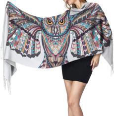 extralargescarf, Moda, Cashmere Scarf, Owl