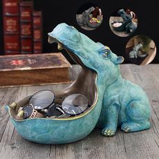 hippo, Statue, Ornament, Box