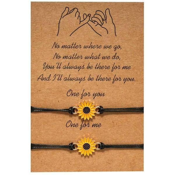 Bracelet, Jewelry, Sunflowers, Mother