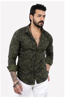 patterned, slim, Shirt, fit