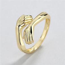 Sterling, adjustablering, Jewelry, gold
