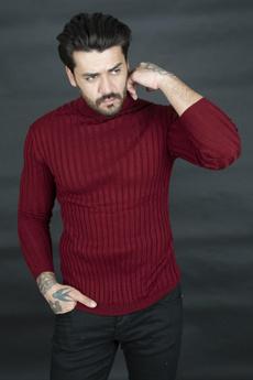 knitted, turtleneck, Full, Striped