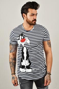 2002047, T Shirts, Striped, printed