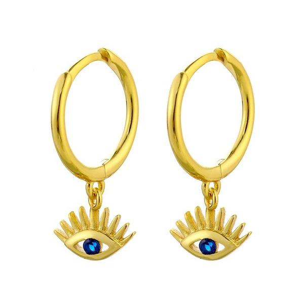 earringforwomen, Blues, Hoop Earring, eye