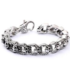Goth, trendbracelet, Jewelry, skull