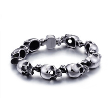 trendbracelet, Jewelry, skull, rockbracelet