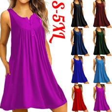 sleeveless, Vest, Fashion, dressesforwomensummer