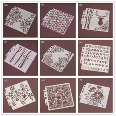 Embellishments, stencil, Scrapbooking, Drawing & Painting Supplies