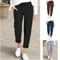 drawstringpant, Pocket, fashion women, Plus Size