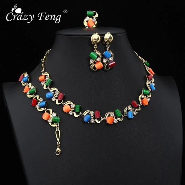 wedding ring, women earrings, Bracelet, Jewelry Set