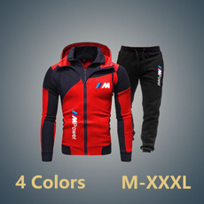 zipperhoodiesuit, leisuresportssuit, printedsuitformen, bmw