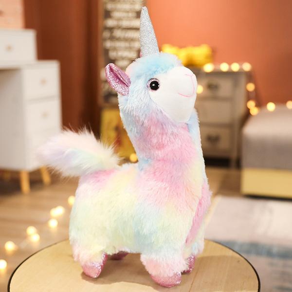 alpacastuffedanimal, rainbow, Toy, xmasgiftsforgirl